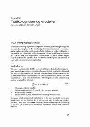 Trafikprognoser og -modeller - Vejbanken