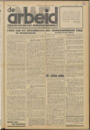De Arbeid (1940) nr. 14 - Vakbeweging in de oorlog