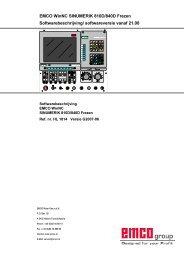 EMCO WinNC SINUMERIK 810D/840D Frezen Softwarebeschrijving