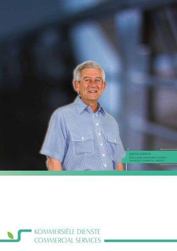 KOMMERSIËLE DIENSTE COMMERCIAL SERVICES - Graan SA