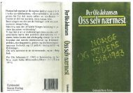 Oss selv nærmest. Norge og jødene 1914-1943. Oslo - Det juridiske ...
