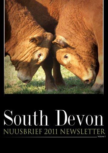 nuusbrief • newsletter • vol 1 • 2011 - South Devon Cattle Breeders