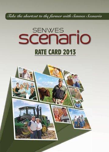 SENWES scenario 2013 RATE CARD