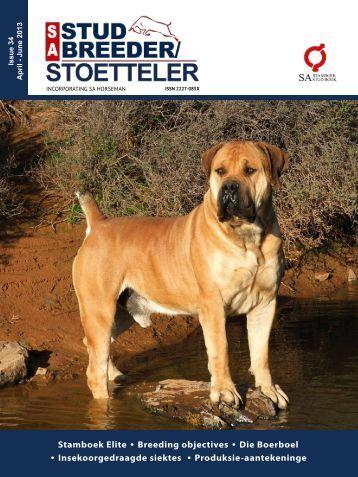 Stamboek Elite • Breeding objectives • Die Boerboel ... - SA Stamboek