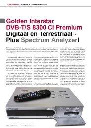 Golden Interstar DVB-T/S 8300 CI Premium Digitaal en Terrestriaal ...