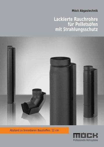 Lackierte Rauchrohre für Pelletsöfen mit Strahlungsschutz - Möck