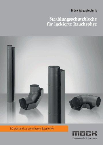 Strahlungsschutzbleche für lackierte Rauchrohre - Möck