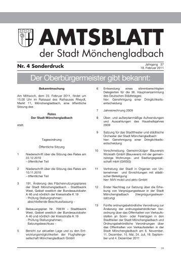 Amtsblatt Nr. 4 vom 18.02.2011 - Stadt Mönchengladbach