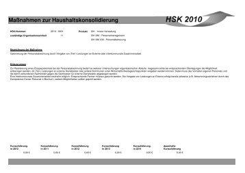 Maßnahmen zur Haushaltskonsolidierung - Stadt Mönchengladbach