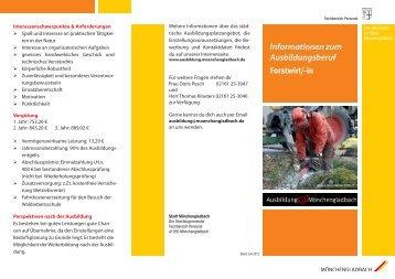 Informationen zum Ausbildungsberuf - Stadt Mönchengladbach