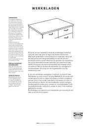 WERKBLADEN - Ikea