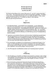 Benutzungsordnung der Zentralbibliothek als PDF - Stadt Moers