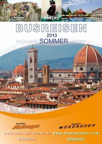 Programm Busreisen 2013 - Reisebüro Möseneder