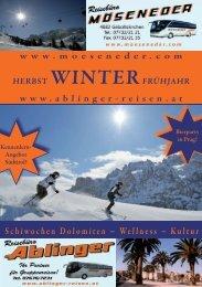 Schiwochen Dolomiten ~ Wellness ~ Kultur