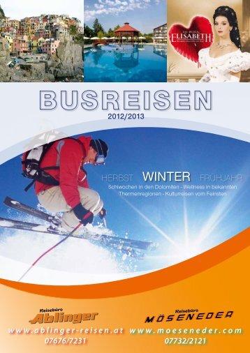 2012/2013 - Reisebüro Möseneder