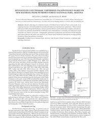 advances in late triassic vertebrate paleontology based ... - Berkeley