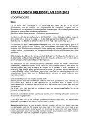 STRATEGISCH BELEIDSPLAN 2007-2012 - Hulshout