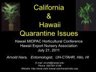 California & Hawaii Quarantine Issues - College of Tropical ...