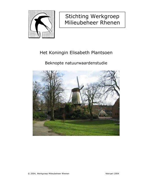 Het Koningin Elisabeth Plantsoen - Stichting WMR