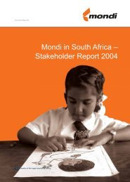 Mondi in South Africa – Stakeholder Report 2004