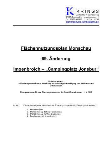 zu TOP 3 Begründung Flächennutzungsplan - Monschau
