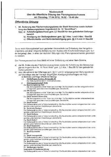 Protokoll - Monschau