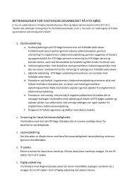 Retningslinjer for fastholdelse HTX Køge