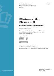 Matematik B, hhx, den 11. juni 2007 (pdf) - Undervisningsministeriet