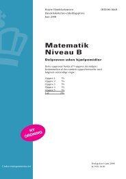 Matematik B, hhx, den 6. juni 2008 (pdf) - Undervisningsministeriet