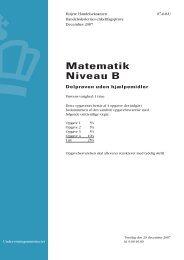 Matematik B, hhx, den 20. december 2007 (pdf)