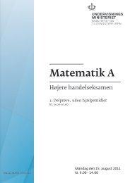 Matematik A, hhx, den 15. august 2011 (pdf)