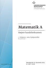 Matematik A, hhx, den 19. december 2011 (pdf)