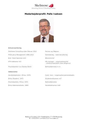 Medarbejderprofil: Palle Isaksen - Skelmose Consulting