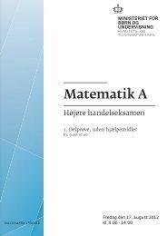 Matematik A, hhx, den 17. august 2012 (pdf)