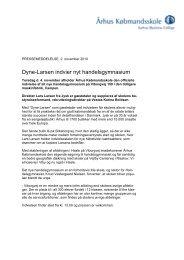 Dyne-Larsen indvier nyt handelsgymnasium - Århus Købmandsskole