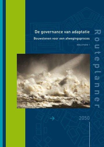 Rapport Deelstudie 1 Afwegingskader water ... - Leven met Water