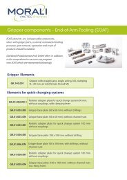 Gripper components – End-of-Arm-Tooling (EOAT) - Morali ...