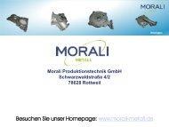 Aluminium Druckguss - Morali Produktionstechnik GmbH
