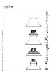 II - Flachsauger / Flat vacuum cups - Morali Produktionstechnik GmbH