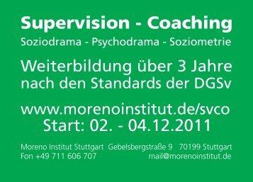 Supervision - Coaching - Moreno Institut Stuttgart