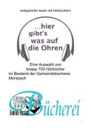 Hörbücher - Gemeinde Morsbach