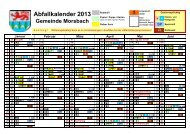 Abfallkalender 2013 - Gemeinde Morsbach