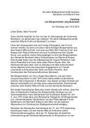 40-Jahre Städtepartnerschaft zwischen Morsbach und Milly-la-Forêt ...