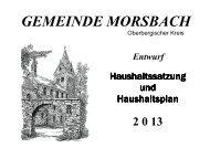 Entwurf Haushaltsplan 2013 - vollständig - Gemeinde Morsbach