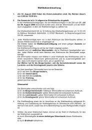 Wahlbekanntmachung - Gemeinde Morsbach