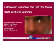 The High Rise Project meets Edinburgh DataShare - University of ...