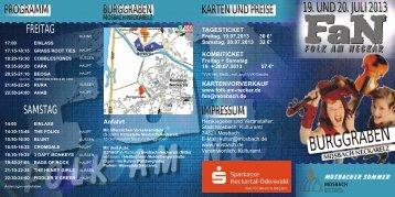 Flyer Folk am Neckar - Mosbach