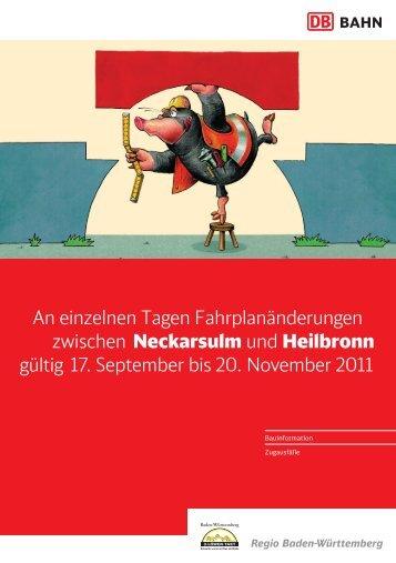 zwischen Neckarsulm und Heilbronn gültig 17 ... - Mosbach