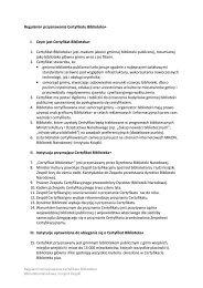 Regulamin przyznawania Certyfikatu Biblioteka+ I. Czym jest ...