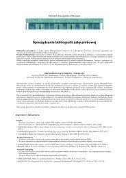 Bibliografia załącznikowa - Biblioteka Uniwersytecka w Warszawie